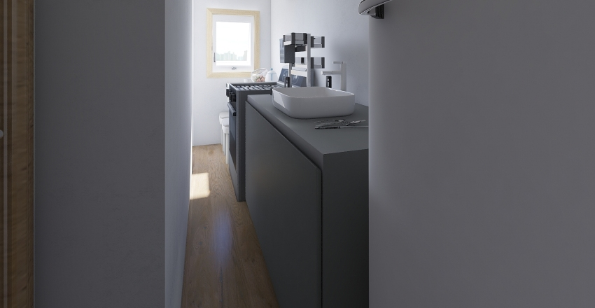 Kit Felipe mudança lado Cozinha Interior Design Render