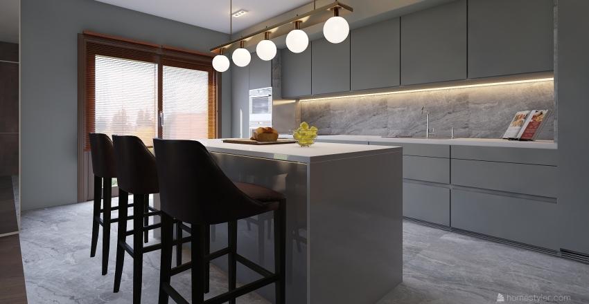 Virtuve marmuras Interior Design Render
