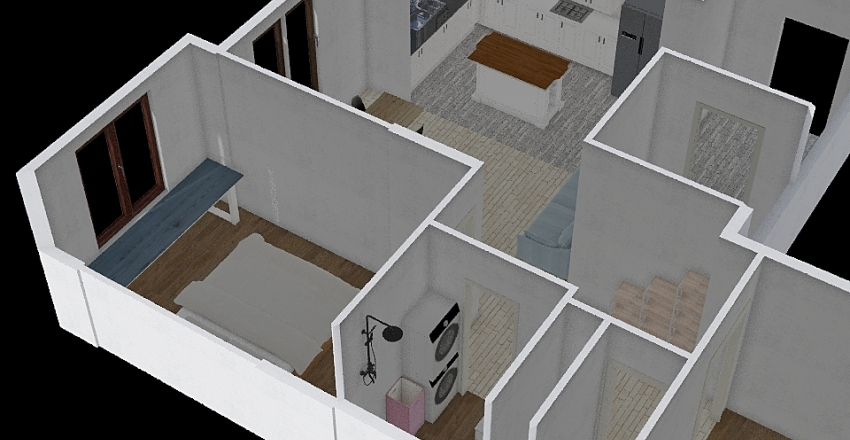 Опалиха v3 Interior Design Render