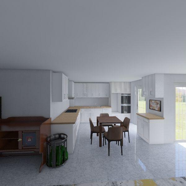 Lustheide69-Küche_LH3 -kleiner Tisch Interior Design Render