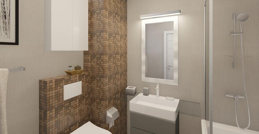 "Apartment ""Na Woli"" Interior Design Render"