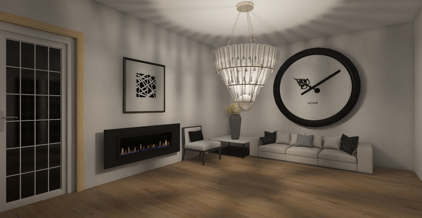 christmas decorated house Interior Design Render