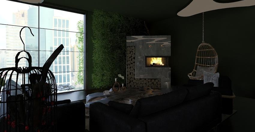 Reptile coffee shop  Interior Design Render