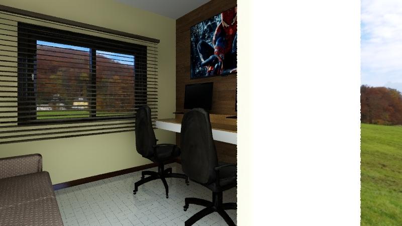 Quarto Gamer Interior Design Render