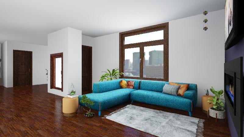 Plant Apartment Interior Design Render