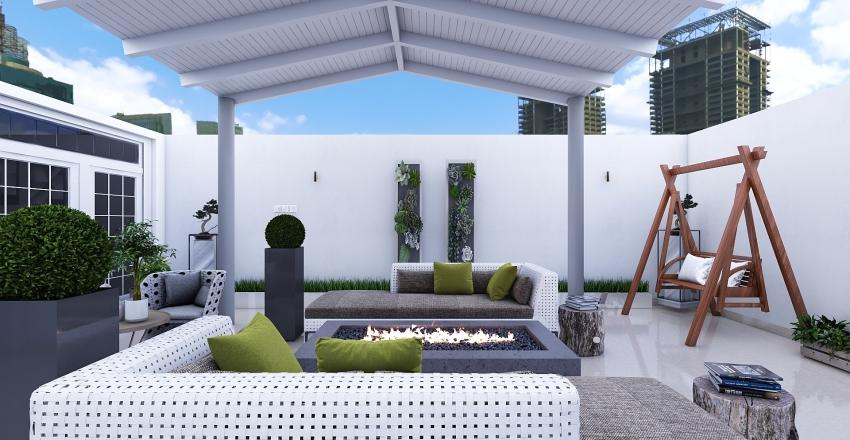 Rooftop Garden Interior Design Render