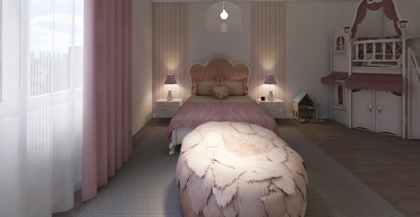 Girly room Interior Design Render