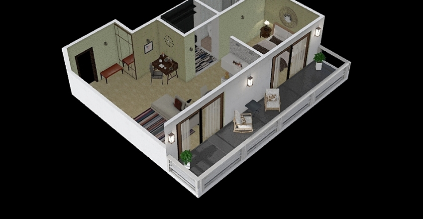 hammer II floor Interior Design Render