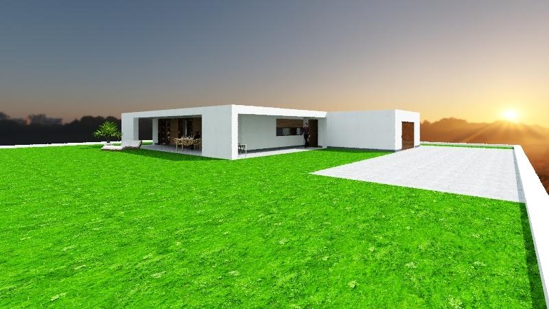 grohy krótszy podcień Interior Design Render