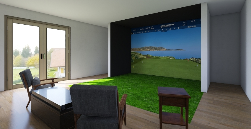 golf Interior Design Render