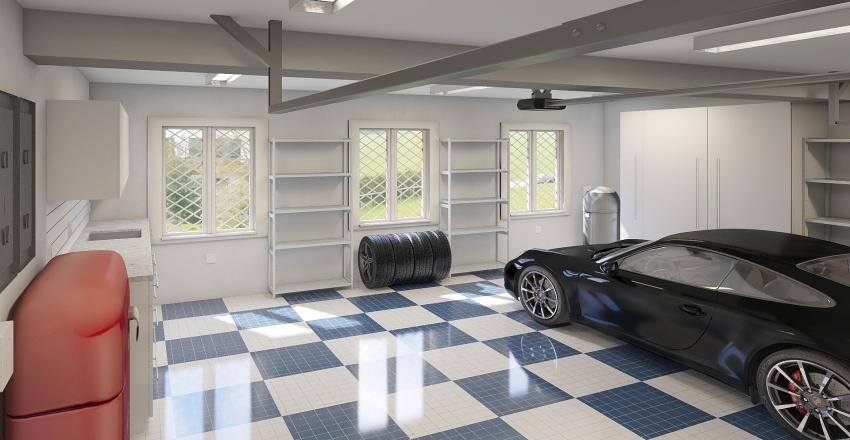 Garage Plain Interior Design Render