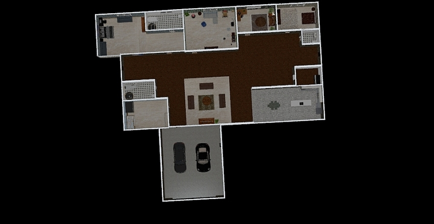lennons house Interior Design Render