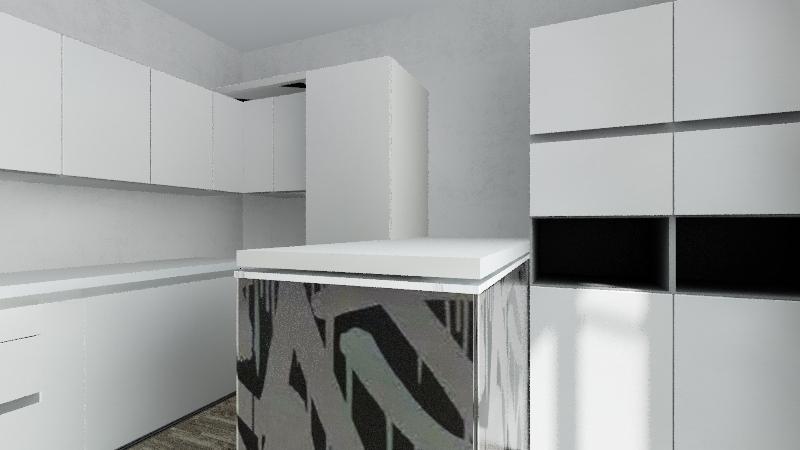 sala cucina Interior Design Render