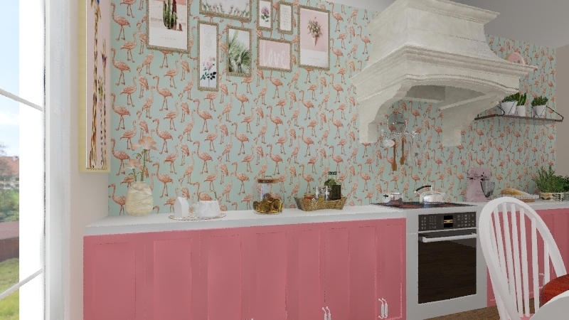 PINK Interior Design Render