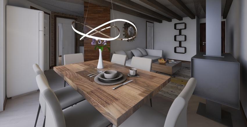 Casa Campiglio real modificated Interior Design Render