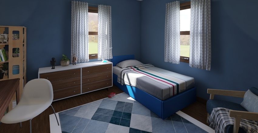 Louise Ranch Home Interior Design Render