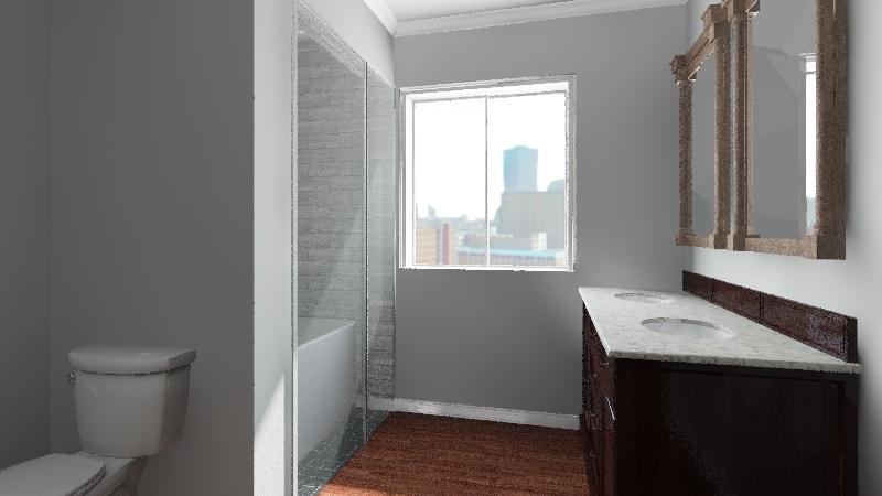 College Apartment Interior Design Render