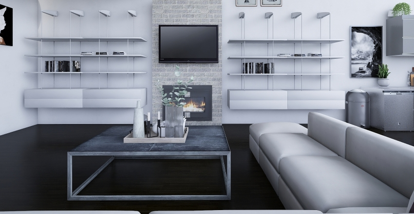 Luxury Loft Interior Design Render