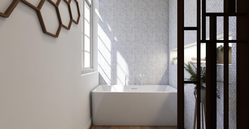 Master Bedroom and Bathroom Interior Design Render
