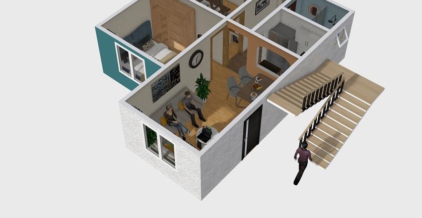 Depto 2 recamaras Interior Design Render