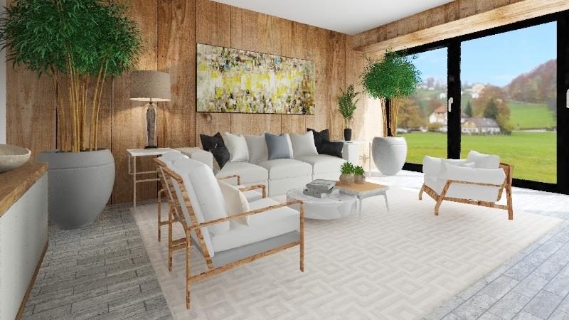 SALA  NO CAMPO Interior Design Render