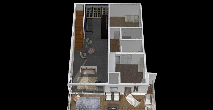 Downstairs Creek 2 Interior Design Render