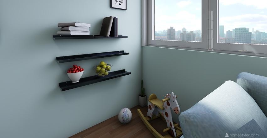 Kids living room. Interior Design Render