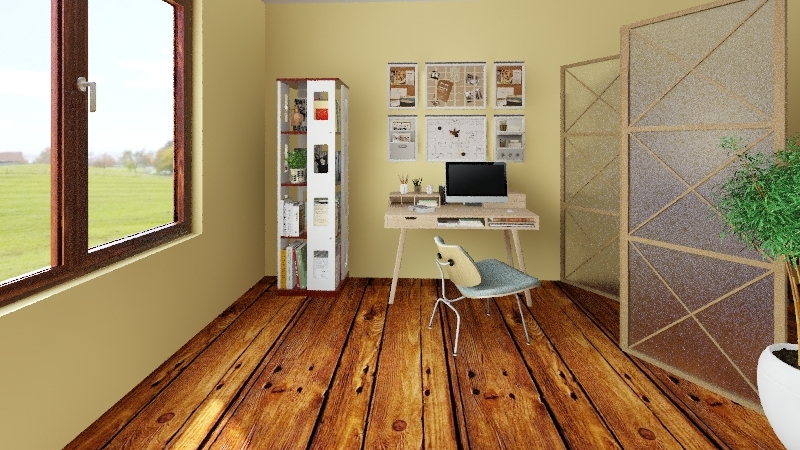 Kitinet no campo Interior Design Render
