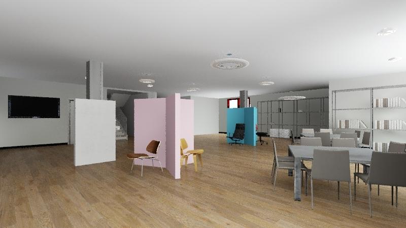 expo sillas Interior Design Render