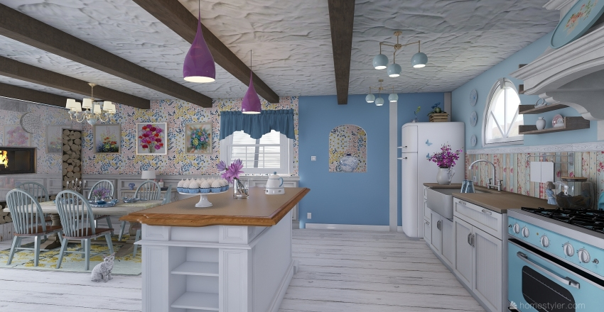 Inspired by Shaby Chic  Interior Design Render