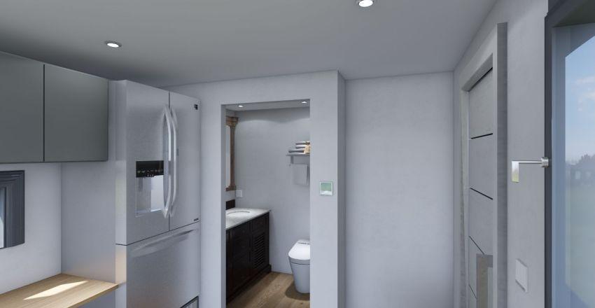 26'x8.5'x7.5' dove tail trailer empty Interior Design Render