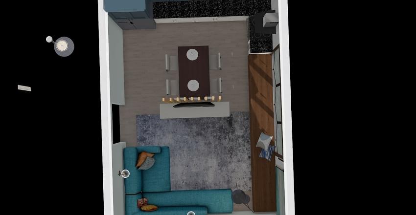 Литейная вид сверху Interior Design Render