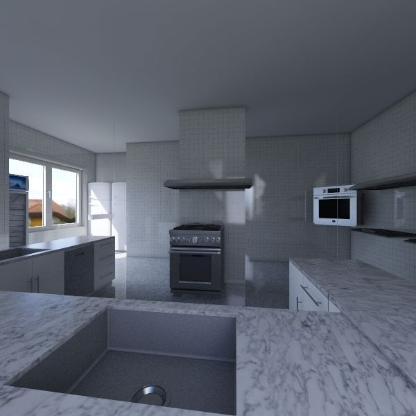 Ресторан Кухня Interior Design Render