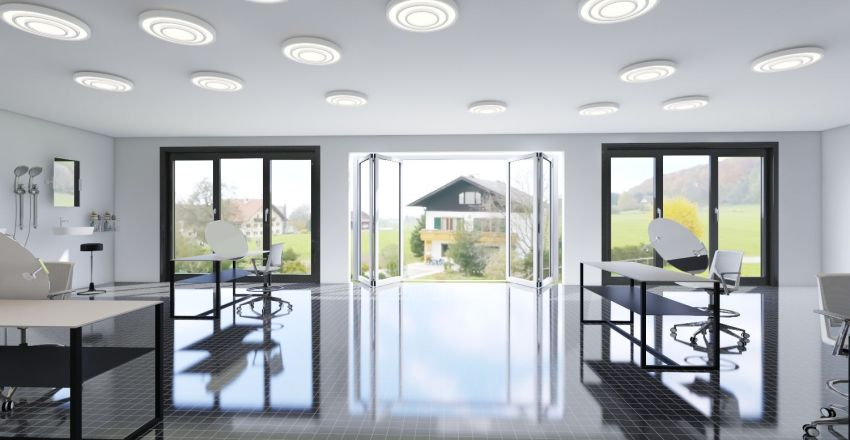Janette Salon Interior Design Render