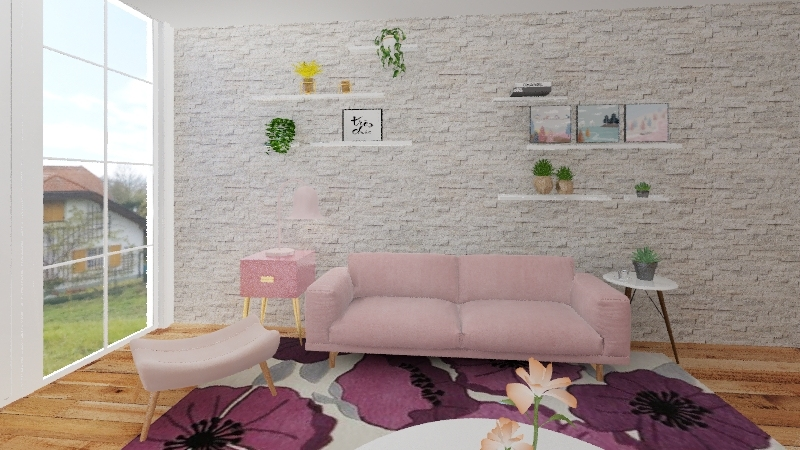 SALA ROSA Interior Design Render