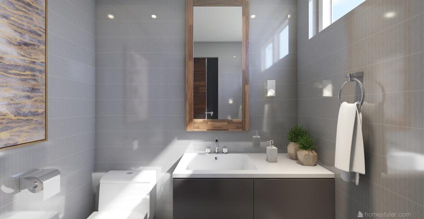 One floor house Interior Design Render