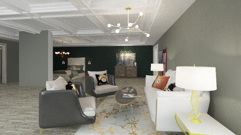 master bed Interior Design Render
