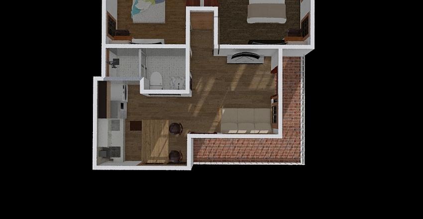 Cabaña Carlos Interior Design Render