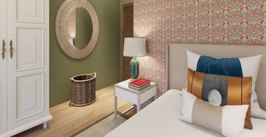 Quarto Verde Interior Design Render