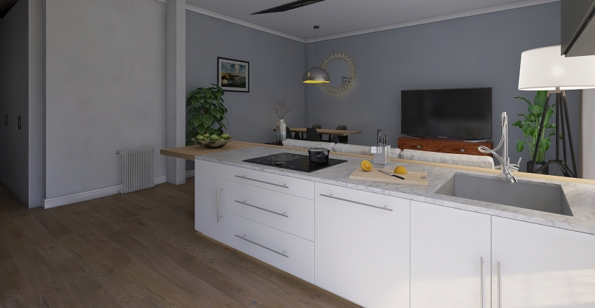 Casa Nuova giusta Interior Design Render