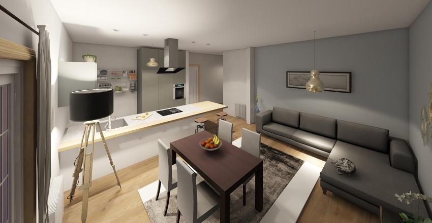Appartement in the city Interior Design Render