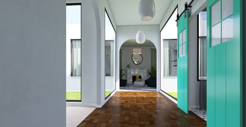 Boho 1 Bed Villa Interior Design Render