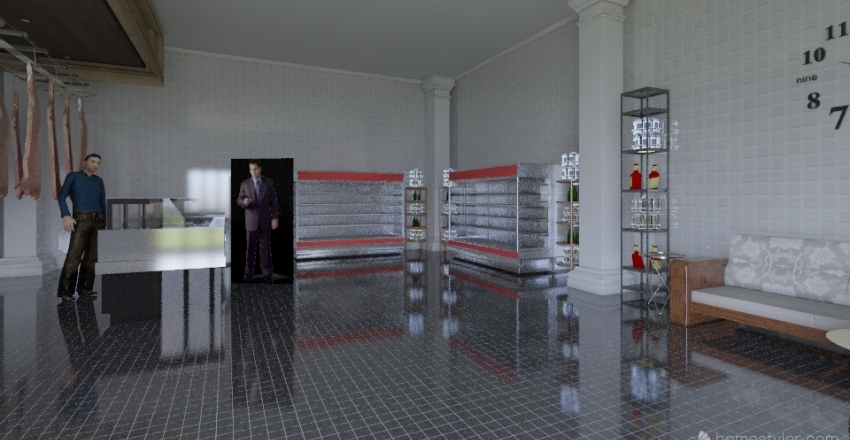 Butcher Shop New Interior Design Render