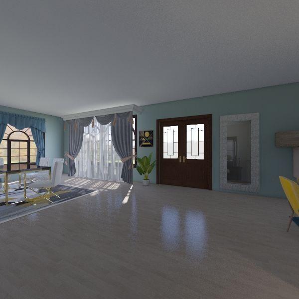 pretty home Interior Design Render