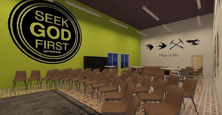 youth loft Interior Design Render