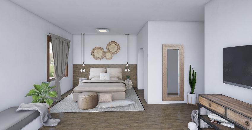 hotel room with pool Interior Design Render