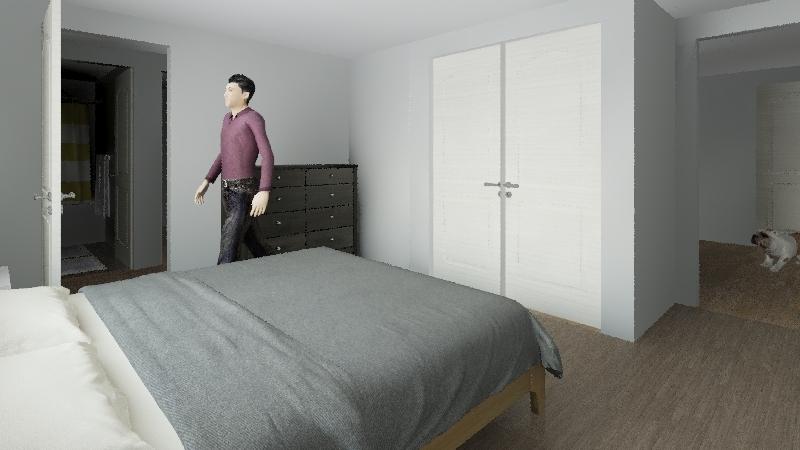 Basement Remodel Interior Design Render