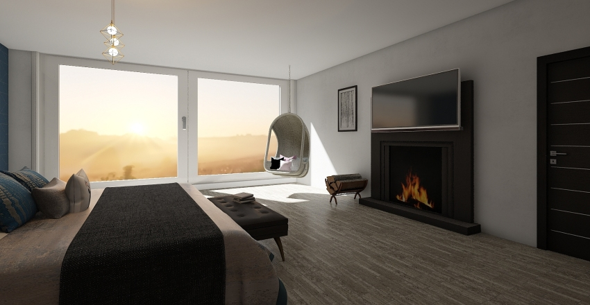 dream rooom Interior Design Render