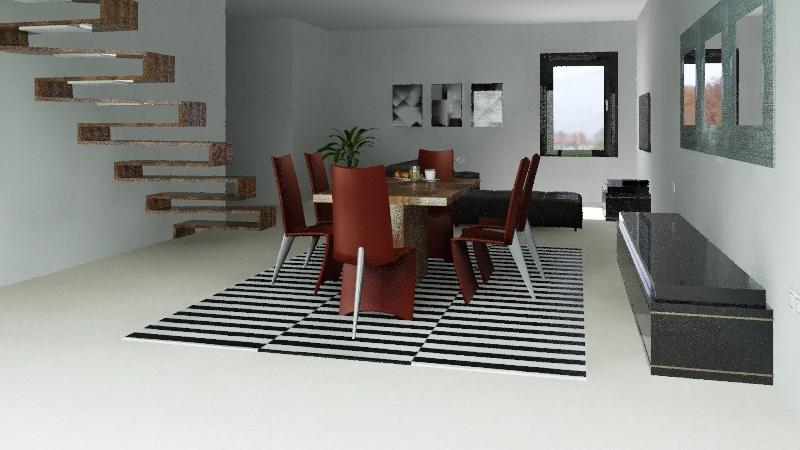 diseño casa de dos plantas Interior Design Render