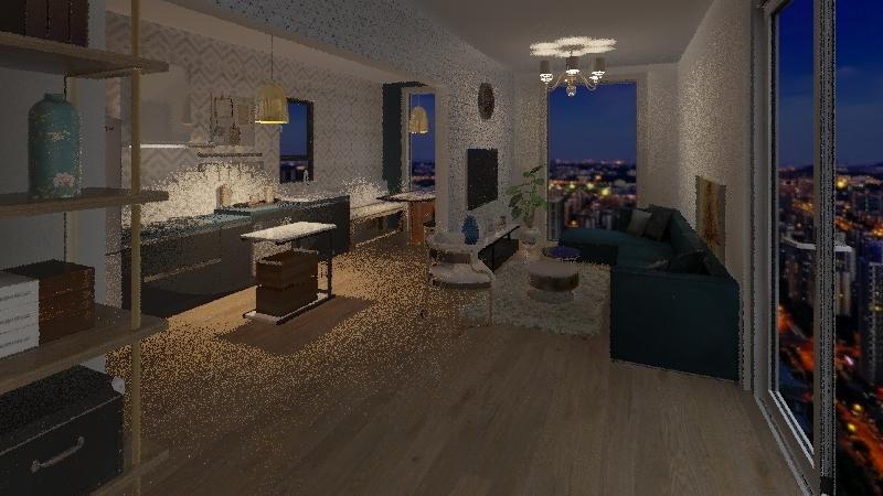 2 X 40ft CONTAINER  Interior Design Render